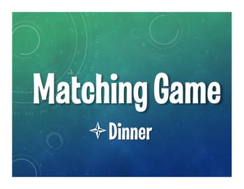 Spanish Dinner Matching Game