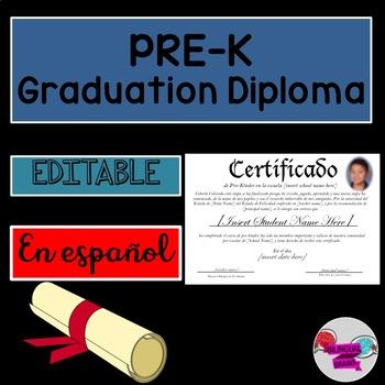 Spanish Diploma/Graduation Certificate