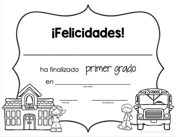 Spanish: Diplomas for the End of the Year