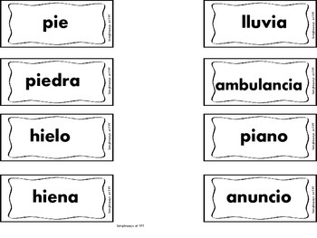 "Spanish ""Diptongos"" Bulletin Board, Guided Reading, or Center"