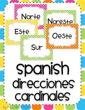 Spanish Posters Direcciones Cardinales (Cardinal Directions)
