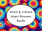 Spanish Direct & Indirect Object Pronouns BUNDLE- Slideshows, Worksheet Packs