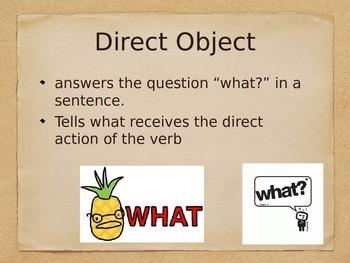 Spanish Direct & Indirect Object Pronouns PowerPoint Slideshow Presentation