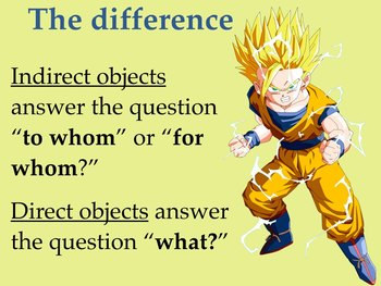 Spanish Direct & Indirect Object Pronouns Together in the Same Sentence Keynote