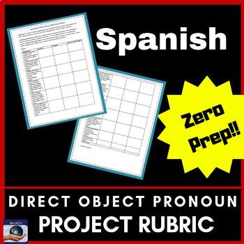 Spanish Direct Object & Direct Object Pronoun Project - 100% Editable