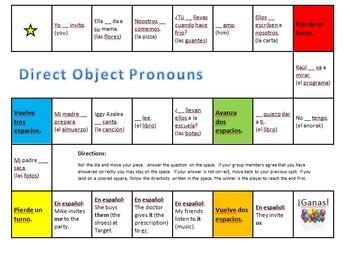 Spanish Direct Object Pronoun Bundle