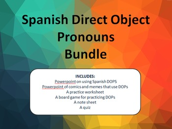 Spanish Direct Object Pronoun Bundle