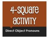 Spanish Direct Object Pronoun Four Square Activity
