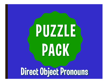 Spanish Direct Object Pronoun Puzzle Pack