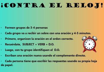 Spanish Direct Object Pronoun Scramble BUNDLE