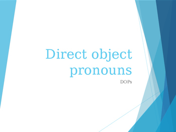 Spanish Direct Object Pronouns