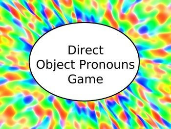 Spanish Direct Object Pronouns Game - Keynote Version for Mac