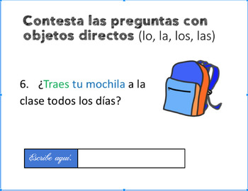 Spanish Direct Object Pronouns Google Drive Activity