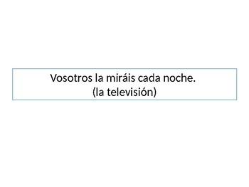 Spanish Direct Object Pronouns Grammar Whiteboard Practice