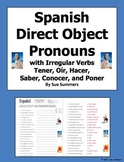 Spanish Direct Object Pronouns & Irregular Present Tense Verbs Worksheet