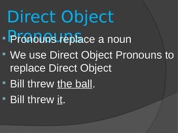 Spanish Direct Object Pronouns Lesson