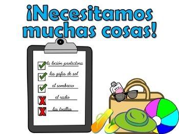 Spanish Direct Object Pronouns Practice DE VACACIONES