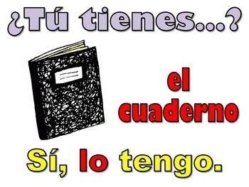 Spanish Direct Object Pronouns Practice EN LA CLASE