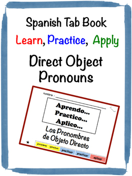 Spanish Direct Object Pronouns Tab Book