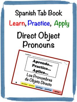 Spanish Direct Object Pronouns Tab Book