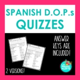 Spanish Direct Object Pronouns Worksheet or Quiz
