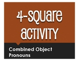 Spanish Direct and Indirect Object Pronoun Four Square Activity