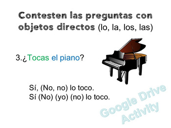 Spanish Direct and Indirect Object Pronouns Lesson Plans and Curriculum