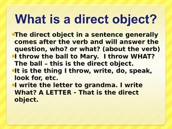 Spanish - Direct and Indirect Objects