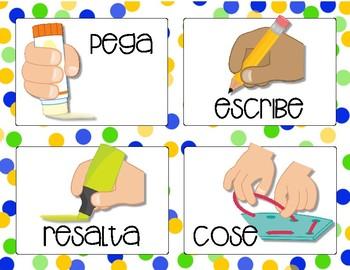 Spanish Direction Cards - Tarjetas de instrucciones en español
