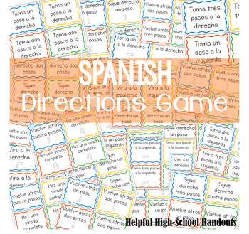 Spanish Directions Game