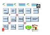 Spanish Directions. Map. Bingo
