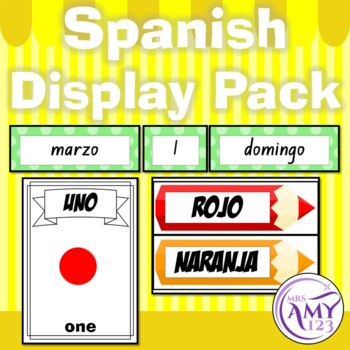 Spanish Display Pack - Numbers, Colours & Calendar