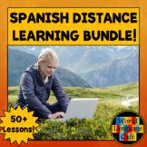 Spanish Distance Learning Bundle, Spanish 1 Lessons, Spani