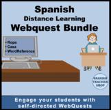 Spanish Distance Learning Webquest Bundle