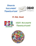 Spanish Document Translation ($1 per page!)