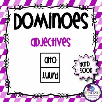 Spanish Dominoes - Adjectives {HARD GOOD}