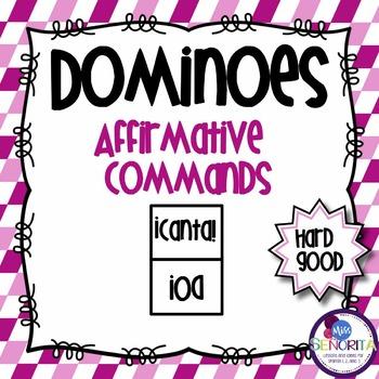 Spanish Dominoes - Affirmative Commands {HARD GOOD}