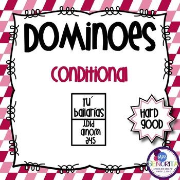 Spanish Dominoes - Conditional Tense {HARD GOOD}