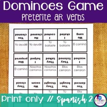 Spanish Dominoes Game {Preterite -AR}