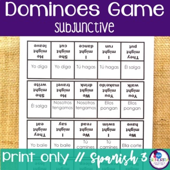 Spanish Dominoes Game {Subjunctive}
