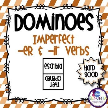 Spanish Dominoes - Imperfect -ER & -IR {HARD GOOD}