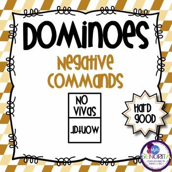 Spanish Dominoes - Negative Commands {HARD GOOD}