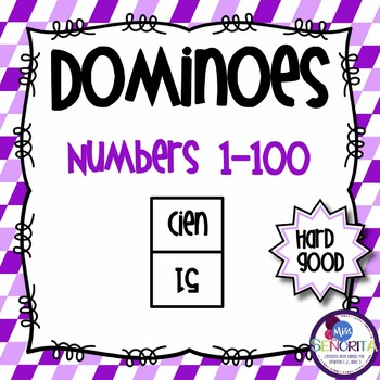 Spanish Dominoes - Numbers 1-100 {HARD GOOD}