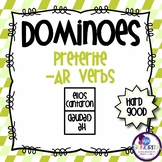 Spanish Dominoes - Preterite -AR {HARD GOOD}