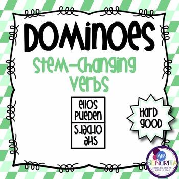 Spanish Dominoes - Stem-Changing Verbs {HARD GOOD}