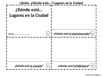 Spanish City Donde Esta 2 Booklets