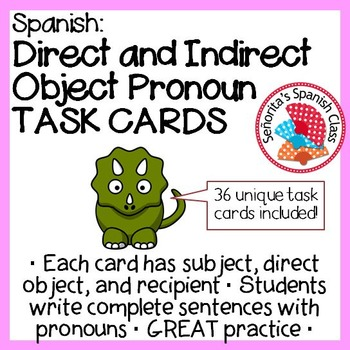 Spanish - Double Object Pronoun TASK CARDS