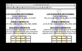 Spanish:  Double Object Pronouns (Indirect/Direct Object P