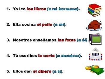 Spanish Double Object Pronoun Practice