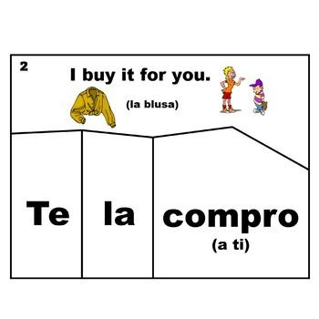 Spanish Double Object Pronouns Puzzles